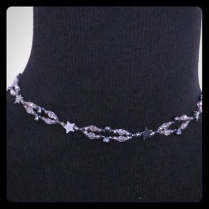 Hand Beaded Star Choker Necklace